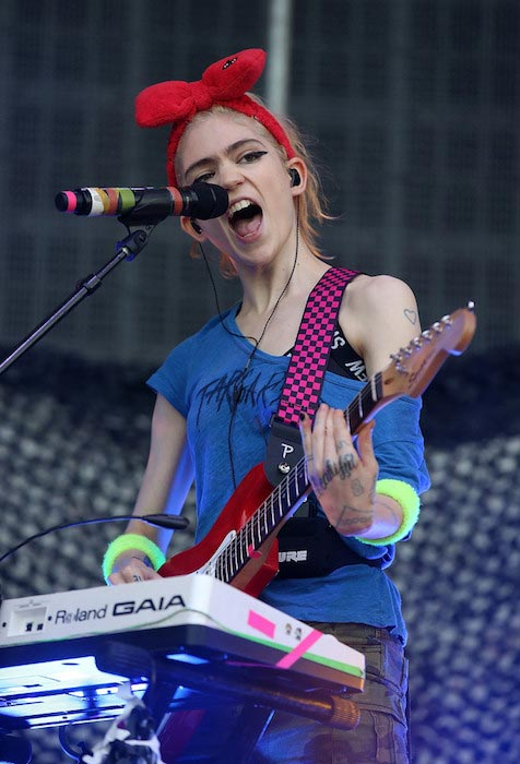 Grimes at St Jerome's Laneway Festival on February 1, 2016 in Auckland, New Zealand