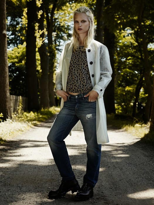Hannah Holman by Duy Vo for Elle Netherlands Denim Special in 2013