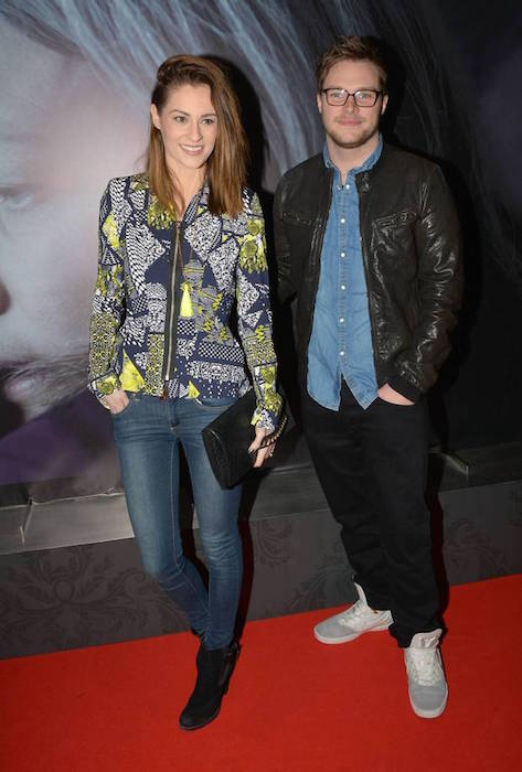 Jack Reynor and Madeline Mulqueen at Patrick's Day premiere in Dublin, Ireland on February 5, 2015