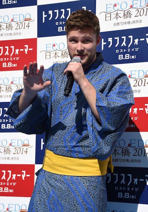 Jack Reynor at the premiere of Transformers: Age of Extinction in Tokyo, Japan on July 28, 2014