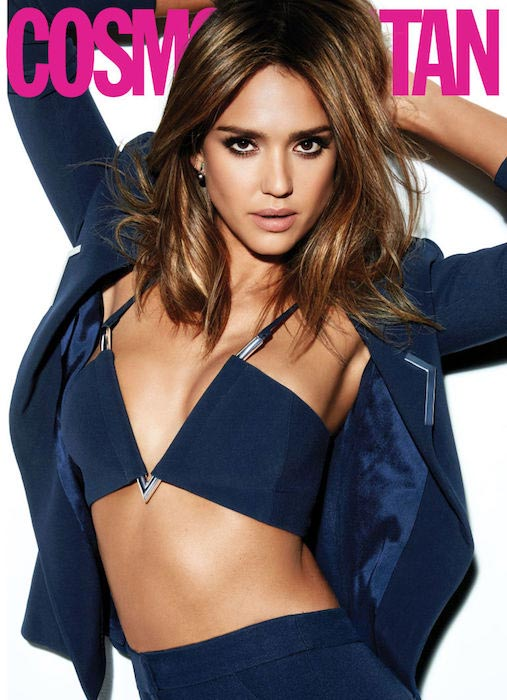 Jessica Alba on March 2016 Cosmopolitan cover