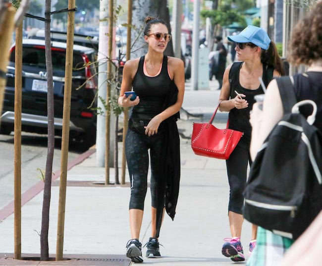 Jessica Alba after a workout session out in Los Angeles on February 28, 2016