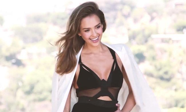 Jessica Alba posing for the October 2016 Shape Magazine photoshoot