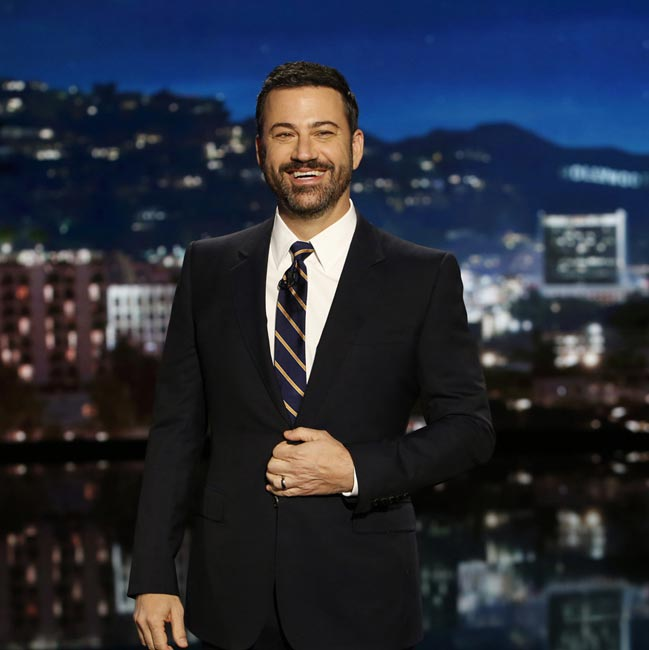 Jimmy Kimmel presenting his show