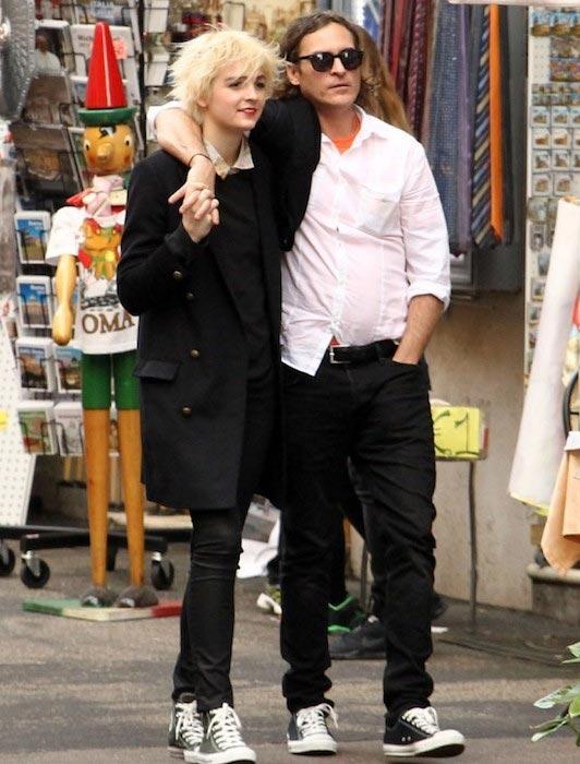 Joaquin Phoenix and Allie Teilz in 2014