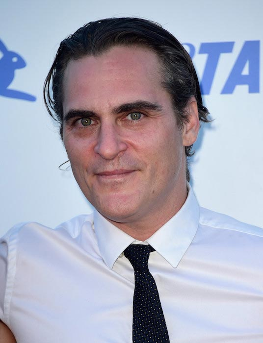 Joaquin Phoenix at PETA's 35th Birthday Party on September 30, 2015 in Los Angeles