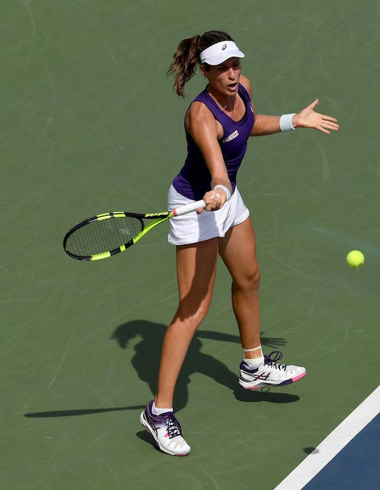 Johanna Konta in action during Day 5 of 2016 US Open against Belinda Bencic on September 2, 2016