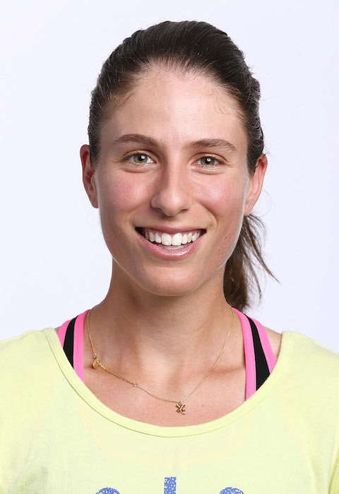 Johanna Konta poses during a photoshoot for WTA Portrait on August 26, 2015