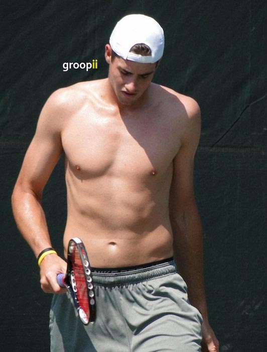 John Isner shirtless body