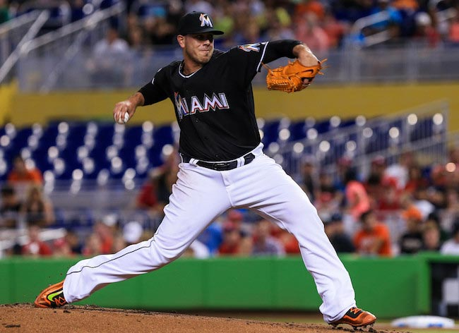 Jose Fernandez match between Miami Marlins and St. Louis Cardinals 2016