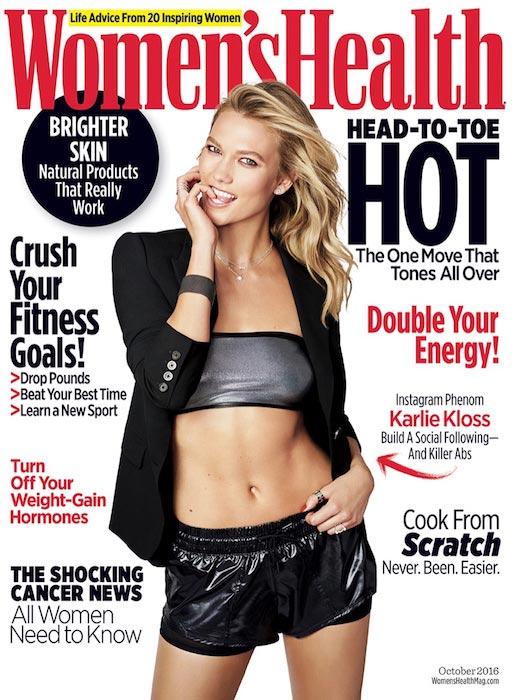 Karlie Kloss on Women's Health October 2016 cover