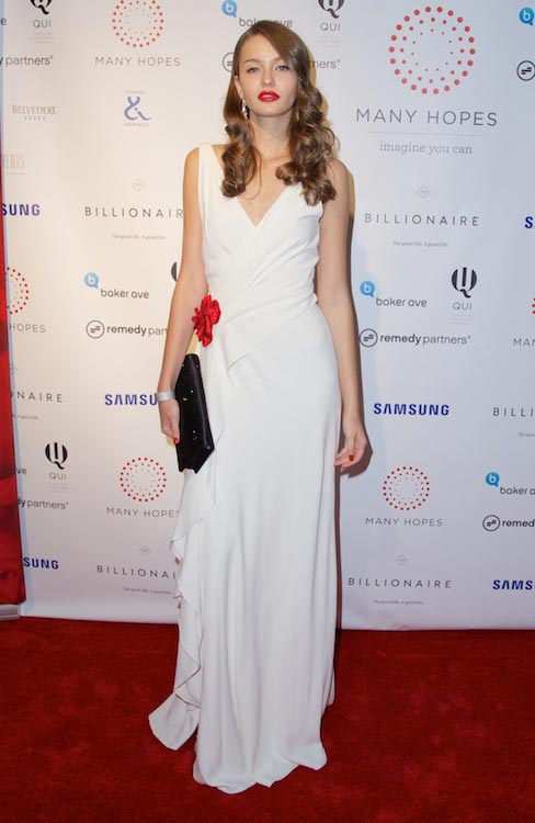 Kristina Romanova at Discover Many Hopes Charity event in June 2013