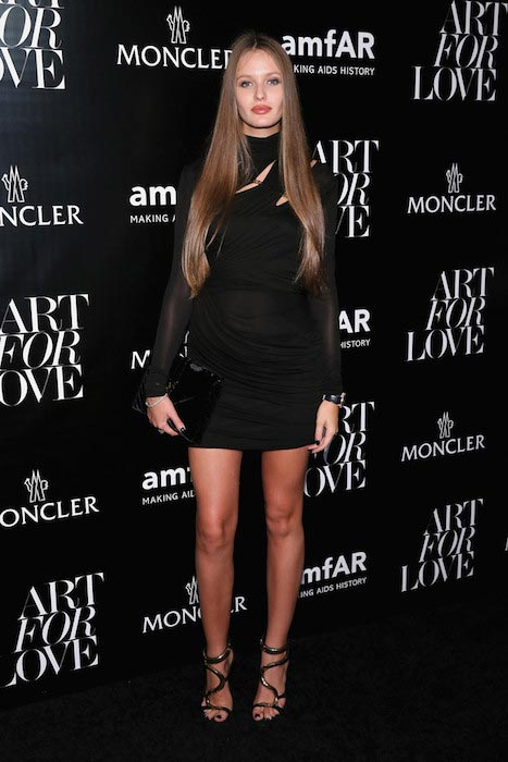 Kristina Romanova at a private viewing of art for love in September 2015