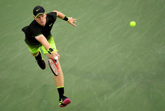 Kyle Edmund during a match against John Isner on Day 5 of the 2016 US Open on September 2, 2016