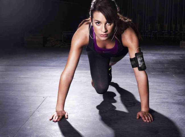 Lea Michele working out