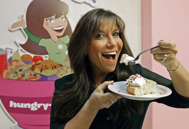 Lisa Lillien relishing a dessert