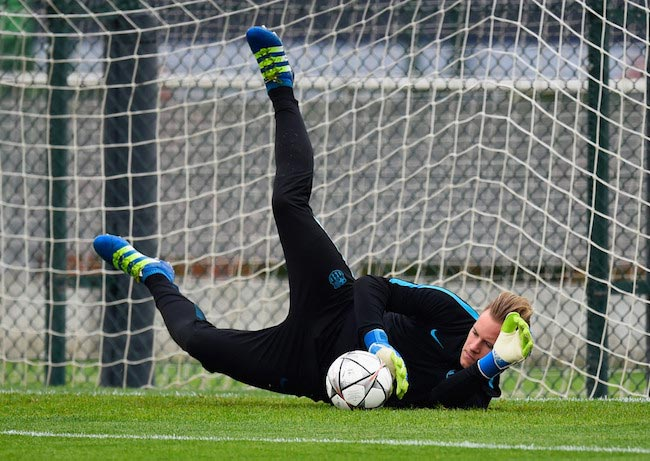 Marc-Andre Ter Stegen during a training before the UEFA Champions League quarter final first match against Atletico Madrid on April 4, 2016