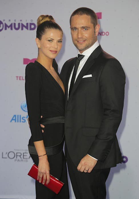 Margarita Munoz and Michel Brown at Tu Mundo premiere in August 2016