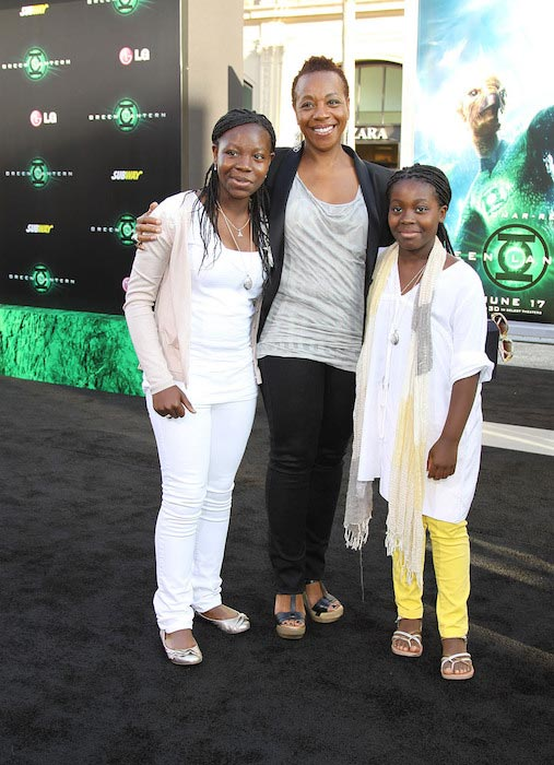 "Marianne Jean-Baptiste at the ""Green Lantern"" world premiere with her daughters in Los Angeles on June 15, 2011"