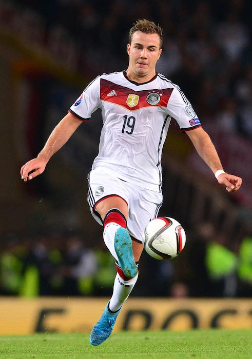 Mario Gotze during the EURO 2016 Qualifier between Germany and Scotland on September 7, 2015