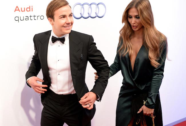 Mario Gotze and Ann Brommel