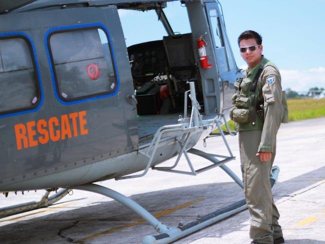 Marvin Lara filming a video clip at Guatemalan Air Force in 2012