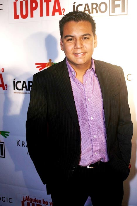 Marvin Lara on red carpet with Dulce Maria RBD in 2012