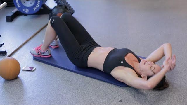 Michelle Bridges doing Tabata workout