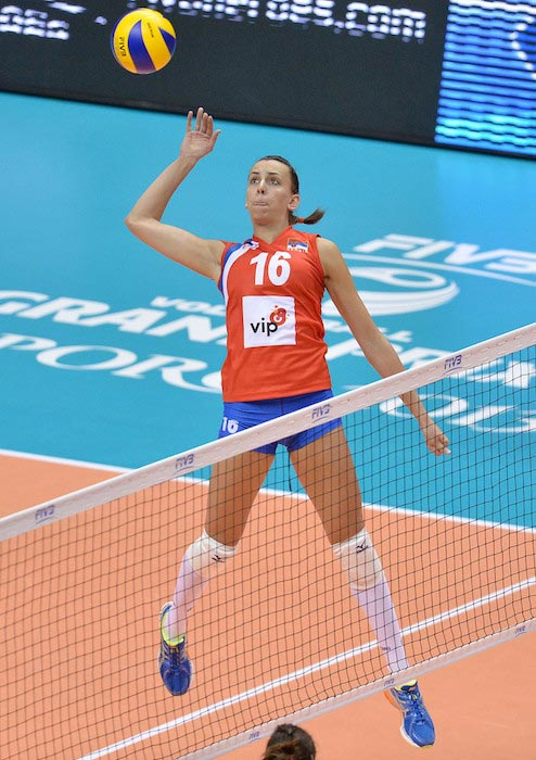 Milena Rasic in action during FIVB World Grand Prix Sapporo 2013 in Japan