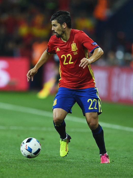 Nolito in action for Spain at UEFA Euro 2016 match against Turkey