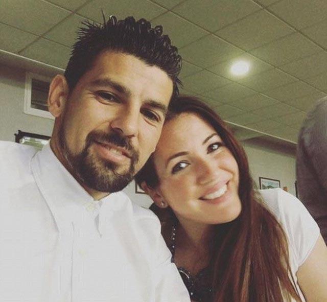 Nolito and his wife Laura Darea