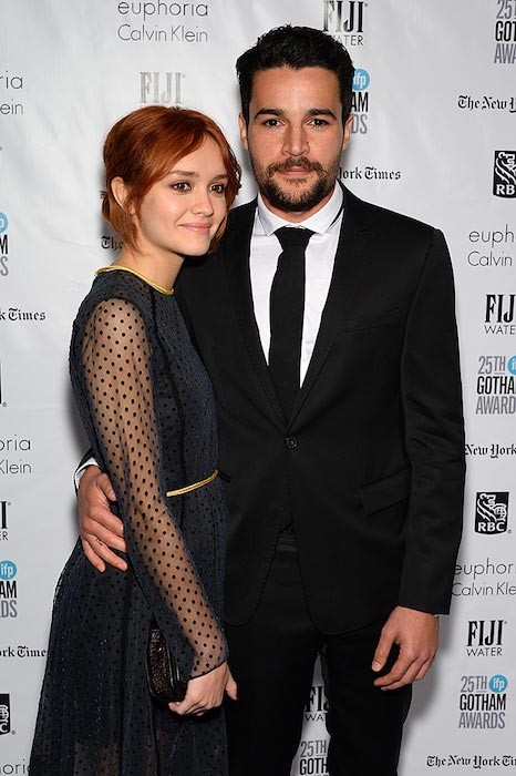 Olivia Cooke with Christopher Abbott during the IFP Gotham Independent Film Awards 2015