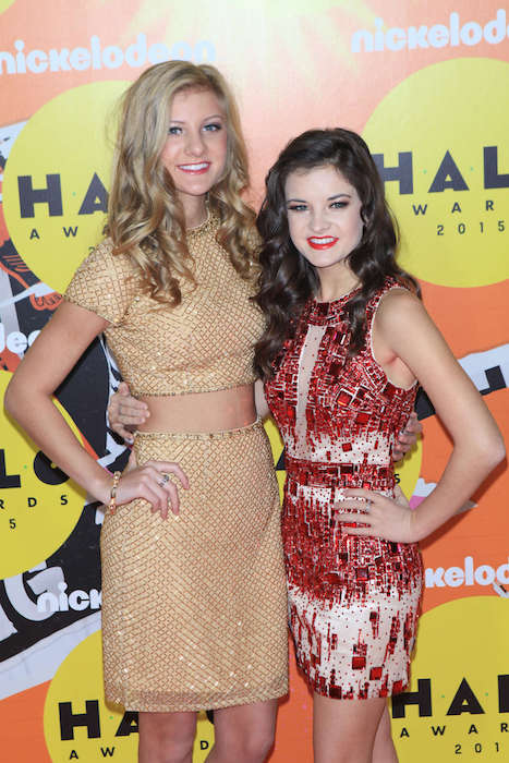 Paige Hyland and Brooke Hyland 2015 Nickelodeon HALO Awards