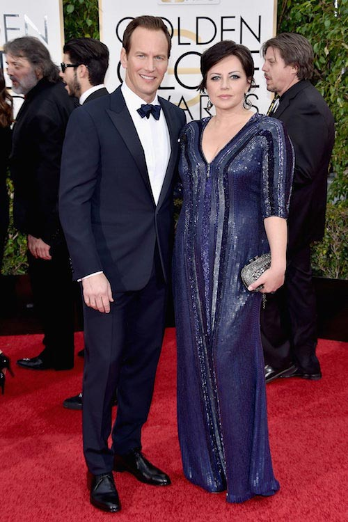 Patrick Wilson with wife Dagmara Dominczyk at the Golden Globes in January 2016