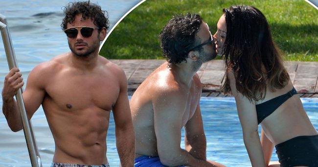 Ryan Thomas shows off newly ripped body with girlfriend in Ibiza