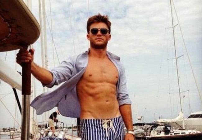 Scott Eastwood taut stomach
