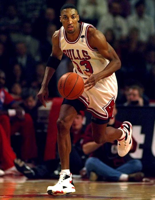 Scottie Pippen during his championship time with the Chicago Bulls