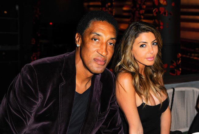 Scottie Pippen with his wife Larsa Pippen on March 16, 2016 in Miami