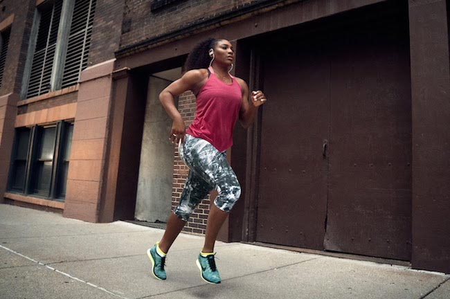 Serena Williams running outdoors