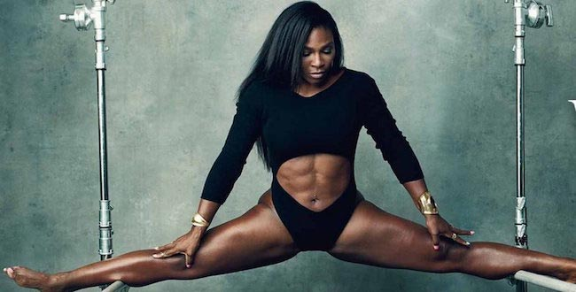 Serena Williams six pack abs