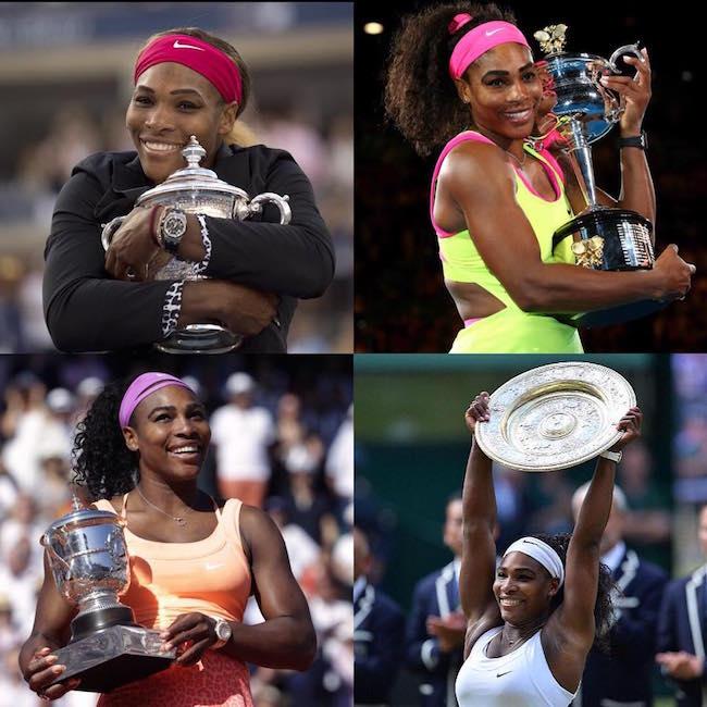 Serena Williams trophy win
