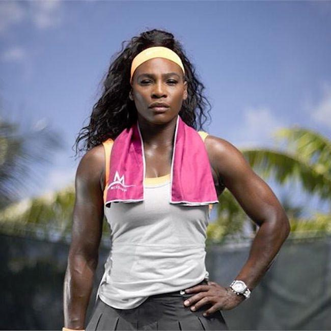 Serena Williams workout session