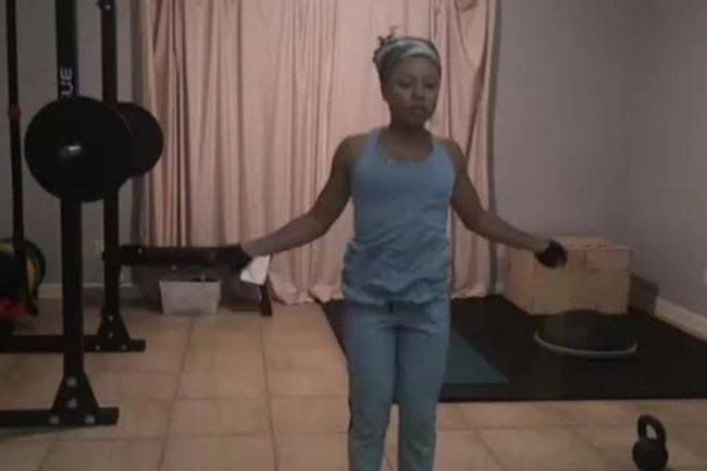 Shalita Grant rope skipping workout