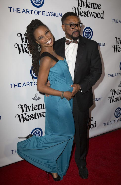 Shanola Hampton with hubby