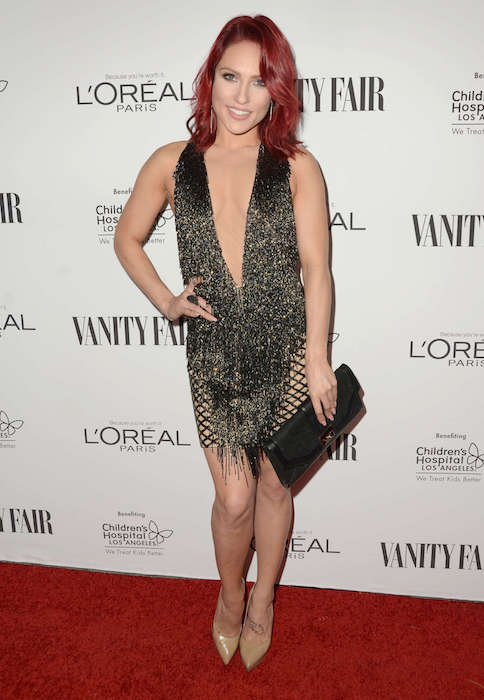 Sharna Burgess at the Vanity Fair L'Oreal Paris and Hailee Steinfeld host DJ Night in February 2016