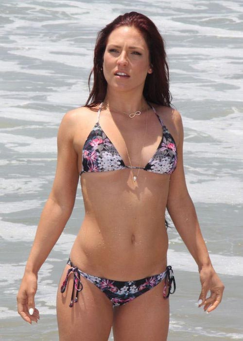 Sharna Burgess bikini Malibu beach June 2014