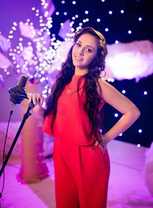 Singer BiBi during the filming of the soundtrack of the Star Darlings in 2016