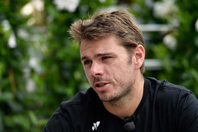 Stan Wawrinka during media day interview at Internazionali BNL d'Italia on May 8, 2016 in Rome