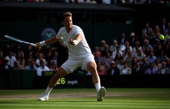 Tomas Berdych Wimbledon's semi final match against Andy Murray July 8, 2016 London