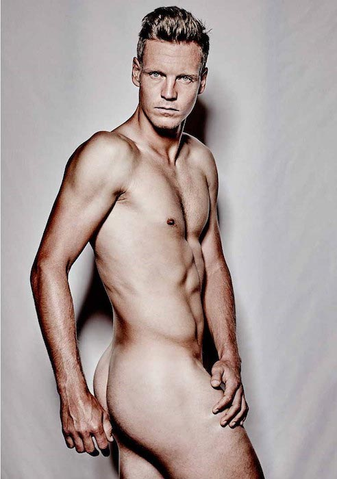 Tomas Berdych completely naked during a photo shoot for ESPN